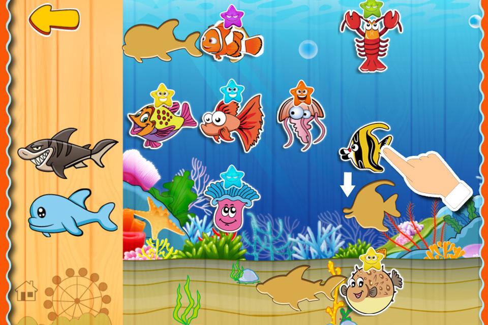 宝宝贴纸动物园, 针对2-12岁儿童设计, 认识动物 拼图